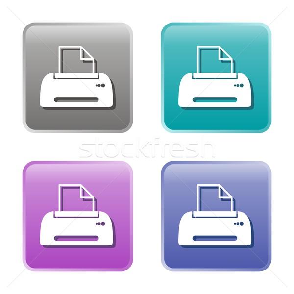 Printer icons Stock photo © blumer1979