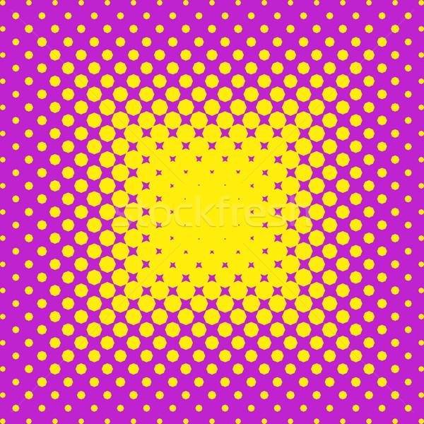 Mezzitoni viola giallo vettore effetto business Foto d'archivio © blumer1979