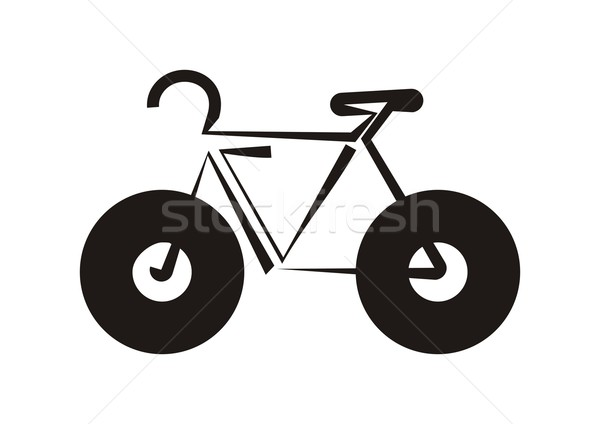 Vélo icône noir stylisé vélo sport Photo stock © blumer1979
