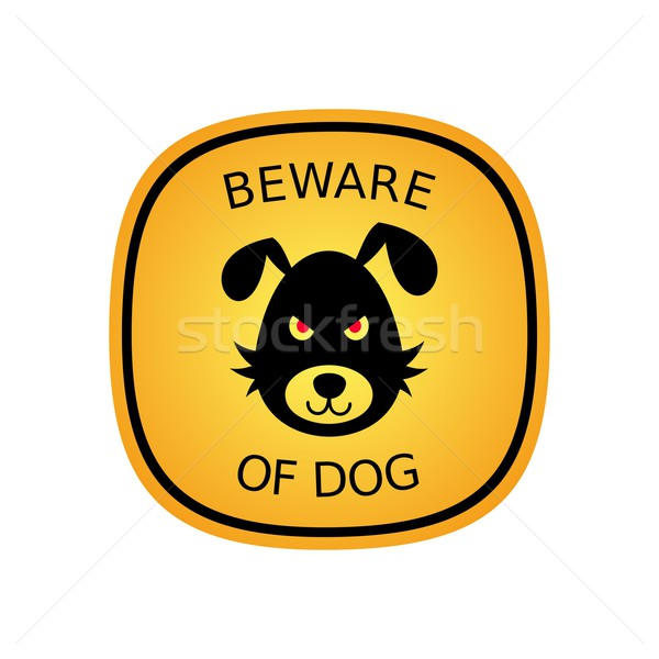 Beware of dog Stock photo © blumer1979