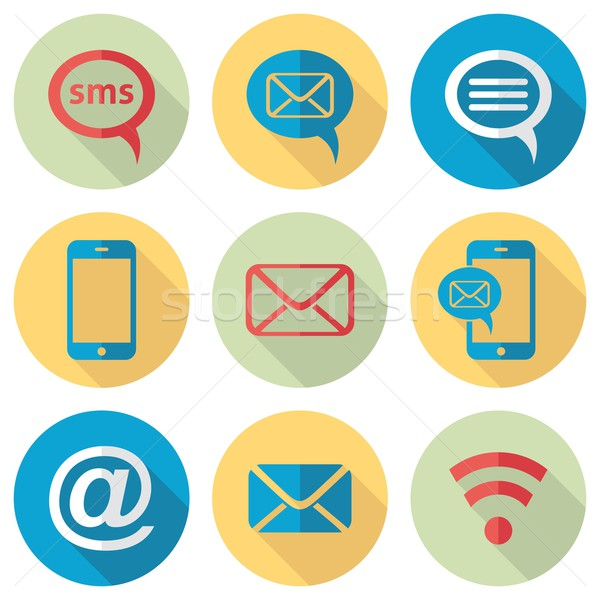 Communication icons Stock photo © blumer1979