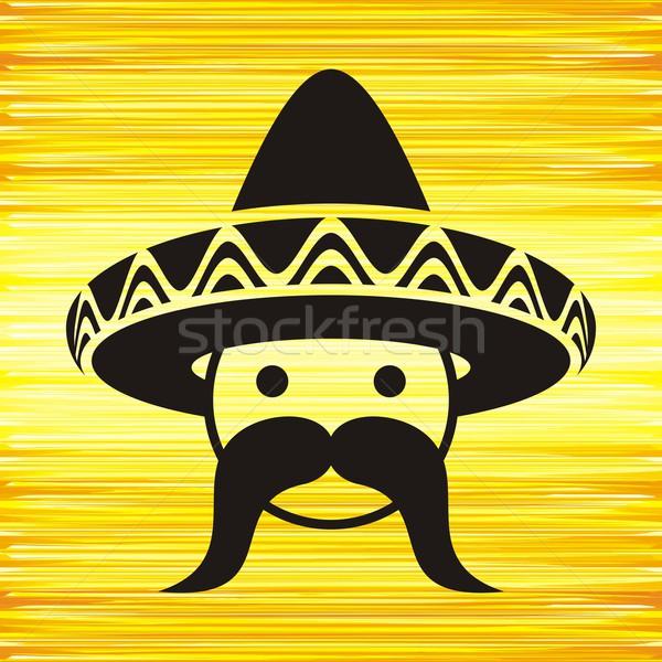 Man with sombrero Stock photo © blumer1979