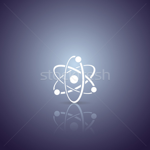 Atom vector icon Stock photo © blumer1979