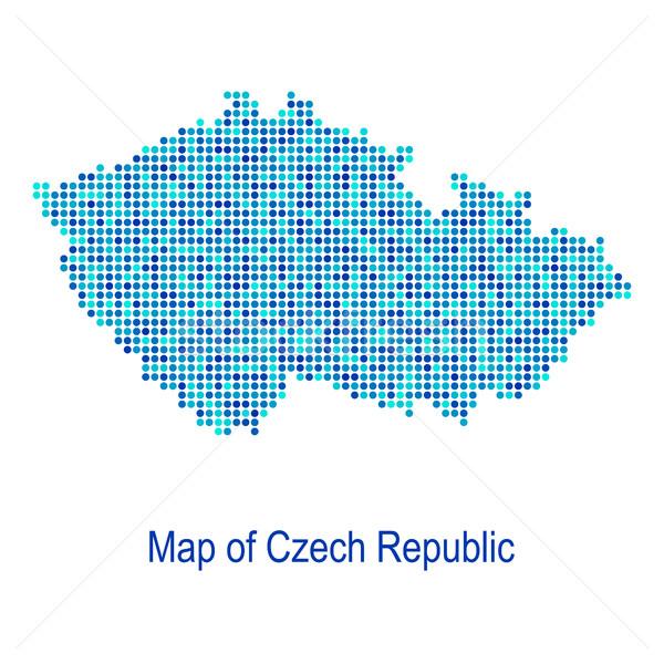 Kék térkép Csehország vektor pont minta Stock fotó © blumer1979