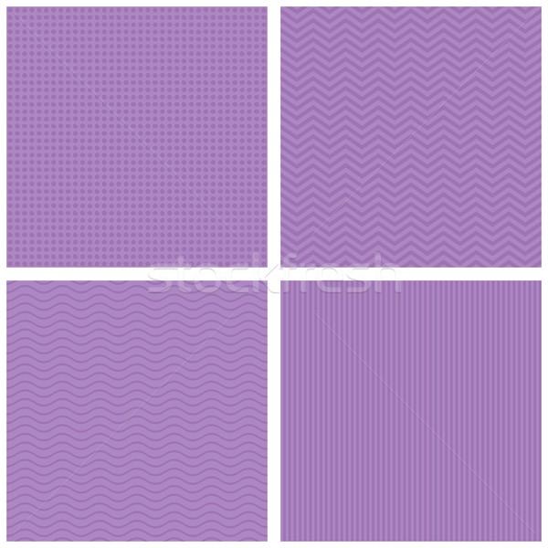 Vecteur rétro violette modèles Photo stock © blumer1979