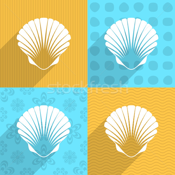 Scallop seashell icon Stock photo © blumer1979