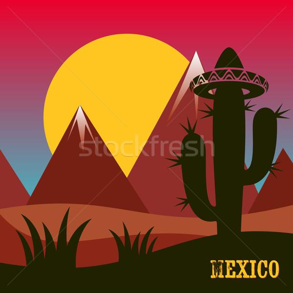 Mexico inspired card Stock photo © blumer1979
