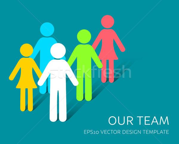 Stok fotoğraf: Vektör · basit · takım · ikon · şirket · tasarım · şablonu