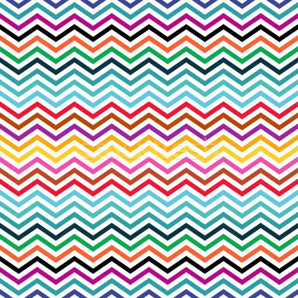 зигзаг бесшовный красочный геометрический этнических шаблон Сток-фото © blumer1979