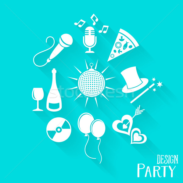 Party and entertainment icons Stock photo © blumer1979