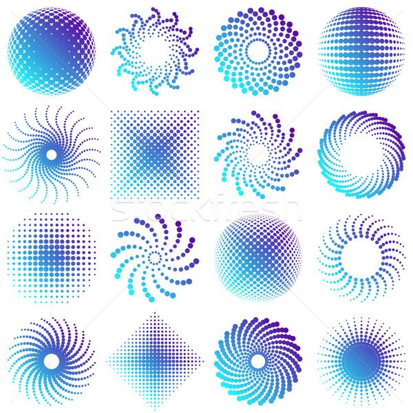 Сток-фото: красочный · вектора · полутоновой · дизайна · Элементы · градиент