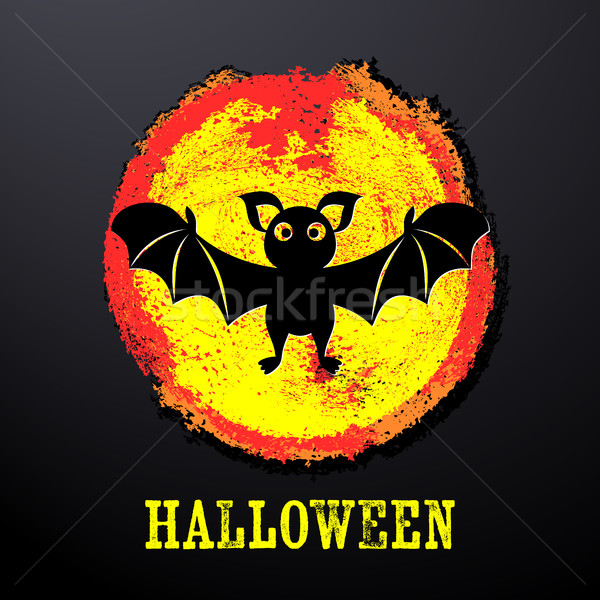 Halloween karty funny bat kolorowy miejscu Zdjęcia stock © blumer1979
