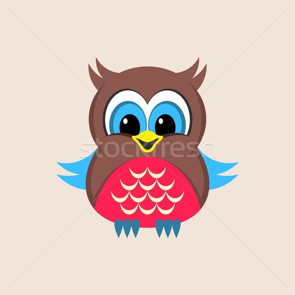 Cute colorful owl Stock photo © blumer1979