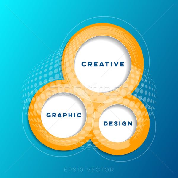 Abstract creative website design template Stock photo © blumer1979