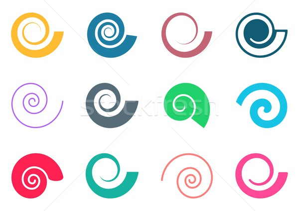 Colorful spiral icons Stock photo © blumer1979