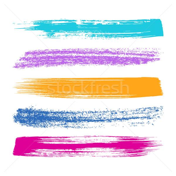 Foto stock: Colorido · siluetas · vector · grande