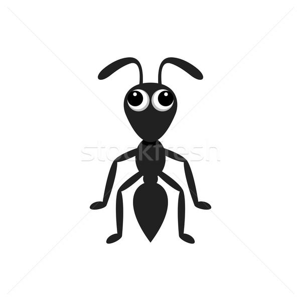 муравей простой изолированный белый глаза Сток-фото © blumer1979