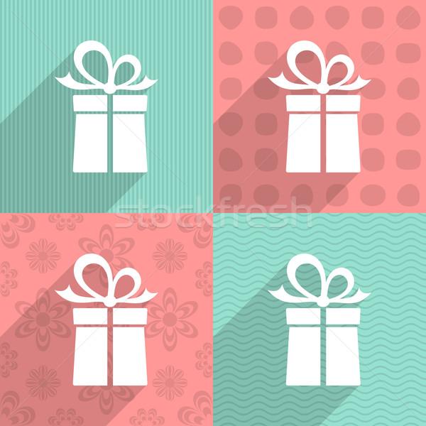 Gift box icon Stock photo © blumer1979