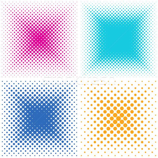 Horizons ensemble en demi-teinte effet coloré vecteur Photo stock © blumer1979