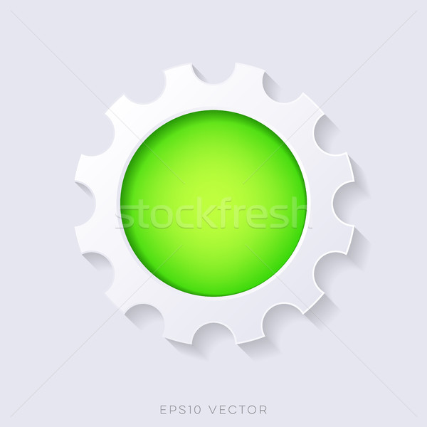 Green vector 3d web button Stock photo © blumer1979