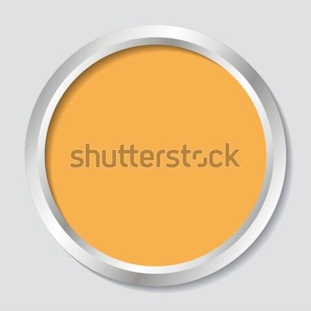 Webボタン ベクトル オレンジ 影 背景 ウェブ ストックフォト © blumer1979