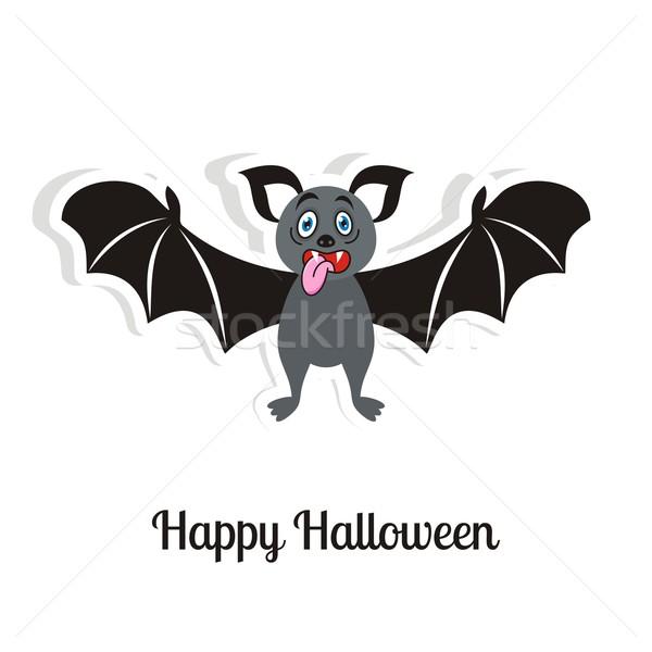 Halloween carte heureux vecteur drôle effrayant Photo stock © blumer1979