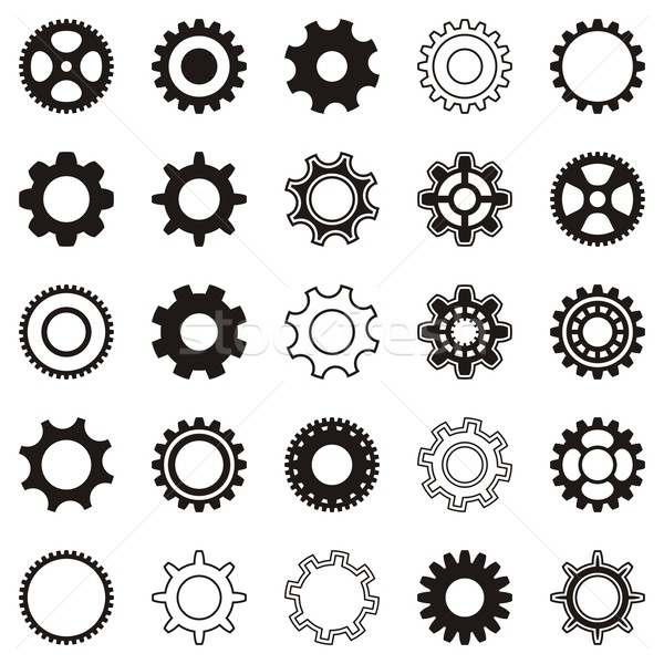 Gear wheel icons Stock photo © blumer1979