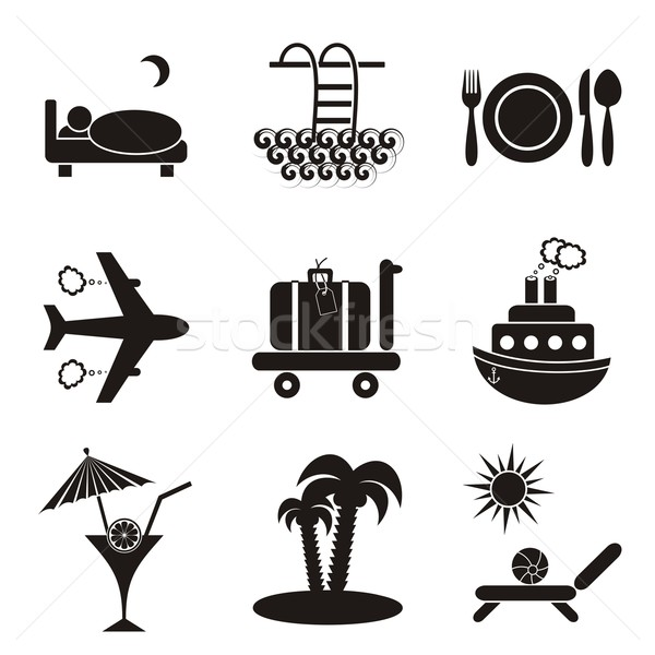 Travelling and accommodation icons  Stock photo © blumer1979