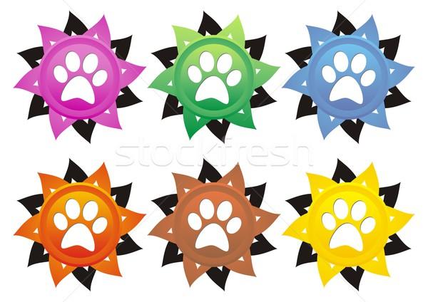 собака Лапы набор шесть лапа Сток-фото © blumer1979