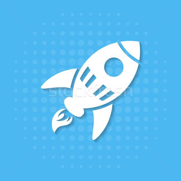 Rocket icon Stock photo © blumer1979