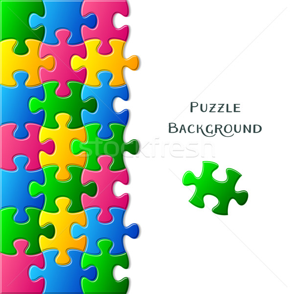 Card with puzzle pieces Stock photo © blumer1979