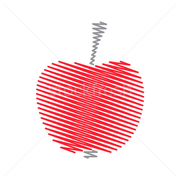 Red abstract striped apple Stock photo © blumer1979