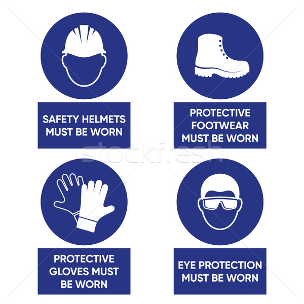 Mandatory health safety signs Stock photo © blumer1979