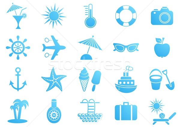 Summer icons Stock photo © blumer1979