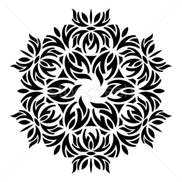 черный геометрический аннотация мандала бумаги дизайна Сток-фото © blumer1979