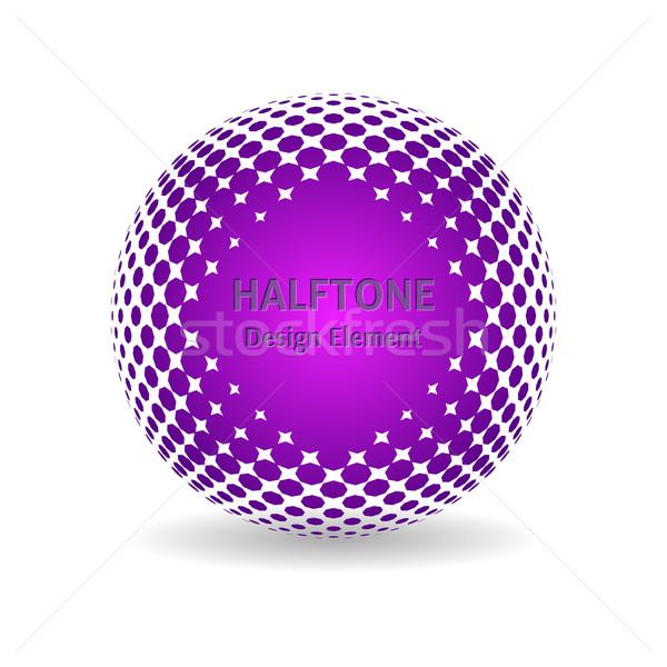 En demi-teinte violette design élément ombre Photo stock © blumer1979