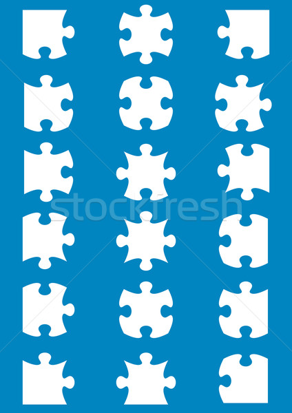 可能 ジグソーパズル ピース 白 ストックフォト © blumer1979