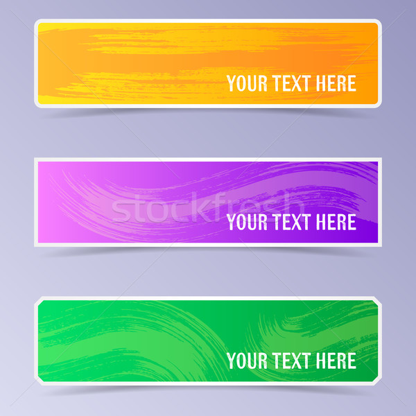 Vector banners with brush strokes Stock photo © blumer1979