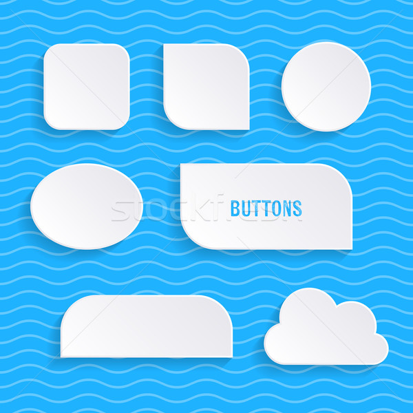 Simple vector buttons with shadows Stock photo © blumer1979