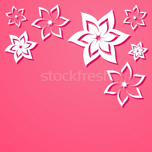 Fleurs rose vecteur belle fleurs blanches mariage Photo stock © blumer1979