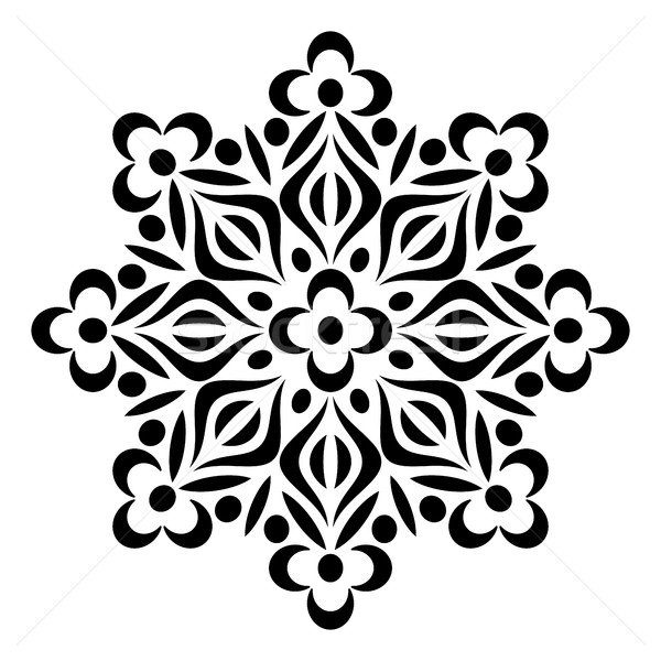 Black geometric abstract round mandala Stock photo © blumer1979
