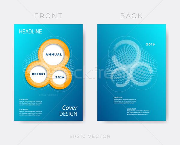 Creative modern annual report design template Stock photo © blumer1979