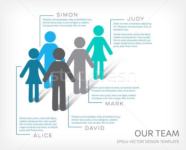 Vector infografía equipo icono empresa plantilla de diseño Foto stock © blumer1979