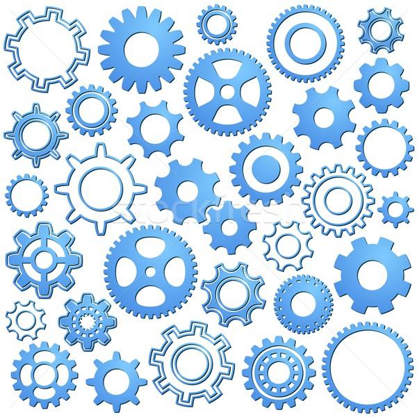 Stock foto: Gang · Räder · unterschiedlich · Rad · Sammlung · blau