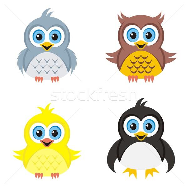 Birds icons Stock photo © blumer1979