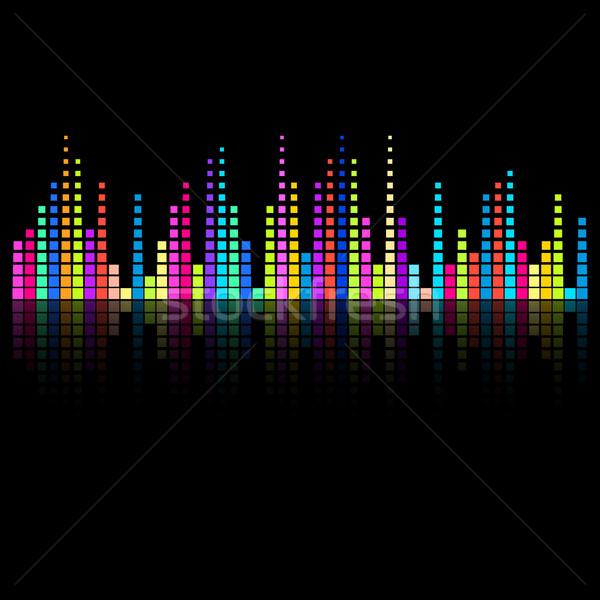Foto stock: Digital · ecualizador · creativa · colorido · diseno