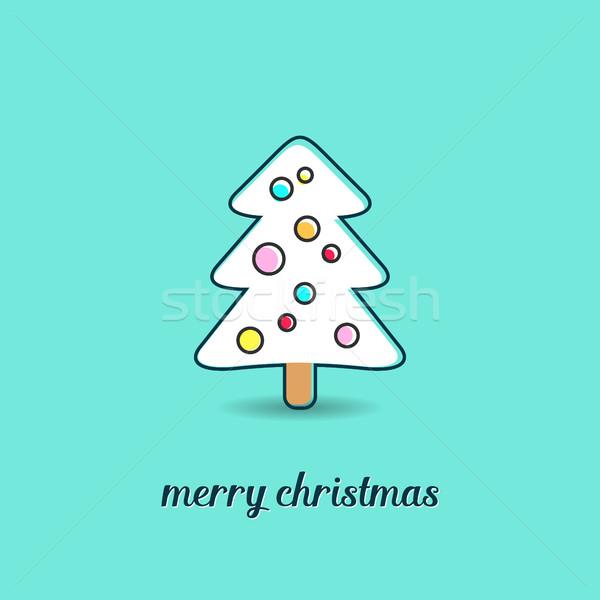 Сток-фото: простой · вектора · Рождества · рождественская · елка · дерево
