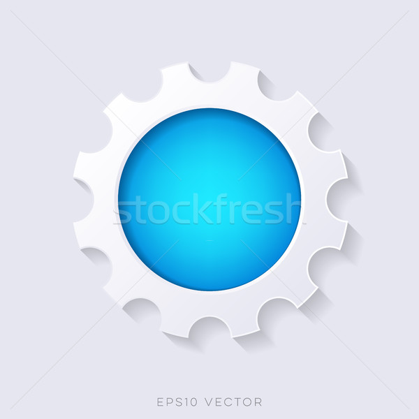 Stock fotó: Kék · vektor · 3D · webes · gomb · viselet · forma