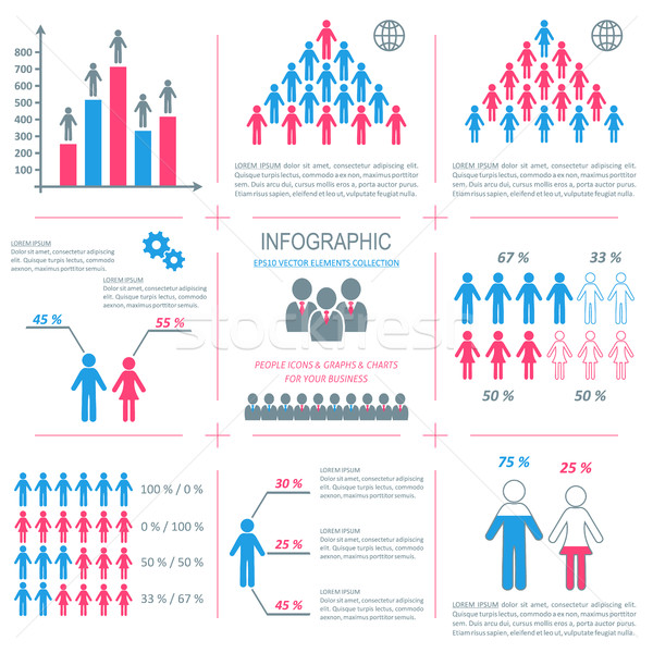 Vector infographic people icons demographic collection Stock photo © blumer1979