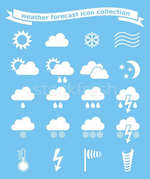 Weather icons set Stock photo © blumer1979